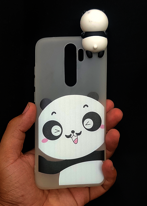 Big Face Panda 3D Silicone Case For Redmi Note 8 Pro