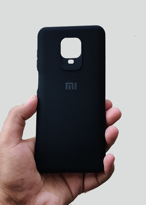 Black Ultrasoft Silicon Case For Redmi Note 9 Pro