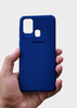 Dark Blue Ultrasoft Silicon Case For Samsung A21S