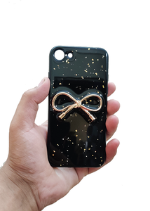 Black Golden Ribbon Silicone Case For Iphone 6/6s