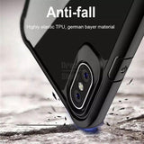 Shockproof silicone protective transparent Case for Apple iphone X/Xs