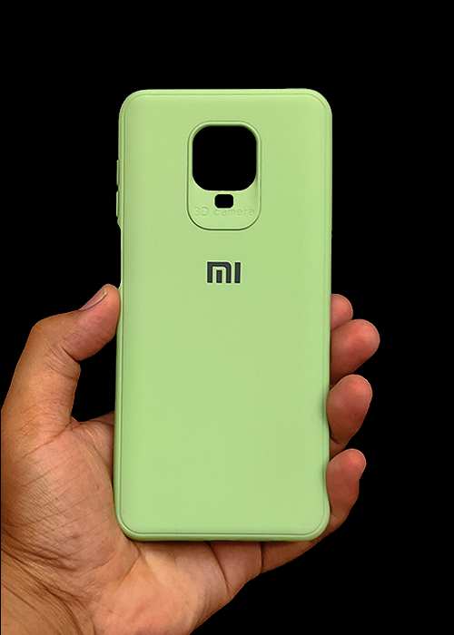 Light Green Ultrasoft Silicon Case For Redmi Note 9 Pro