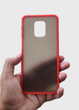 Red Smoke Silicone Case For Redmi Note 9 Pro