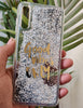 Silver Good Vibes Water Glitter Silicone Case For Samsung A50