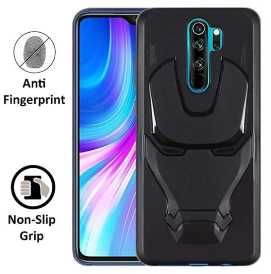 Ironman Engraved logo silicon Case for Redmi note 8 pro