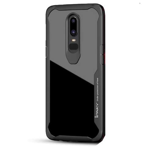 Shockproof silicone protective transparent Case for Oneplus 6