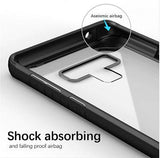 Shockproof silicone protective transparent Case for Samsung note 9