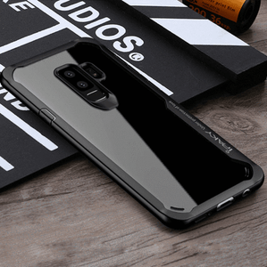 Shockproof silicone protective transparent Case for Samsung S9
