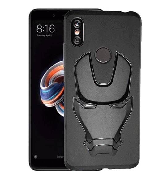 Ironman Engraved logo silicon Case for Redmi note 5 pro