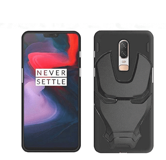 Ironman Engraved logo silicon Case for Oneplus 6