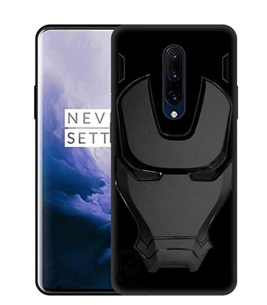 Ironman Engraved logo silicon Case for Oneplus 7 pro