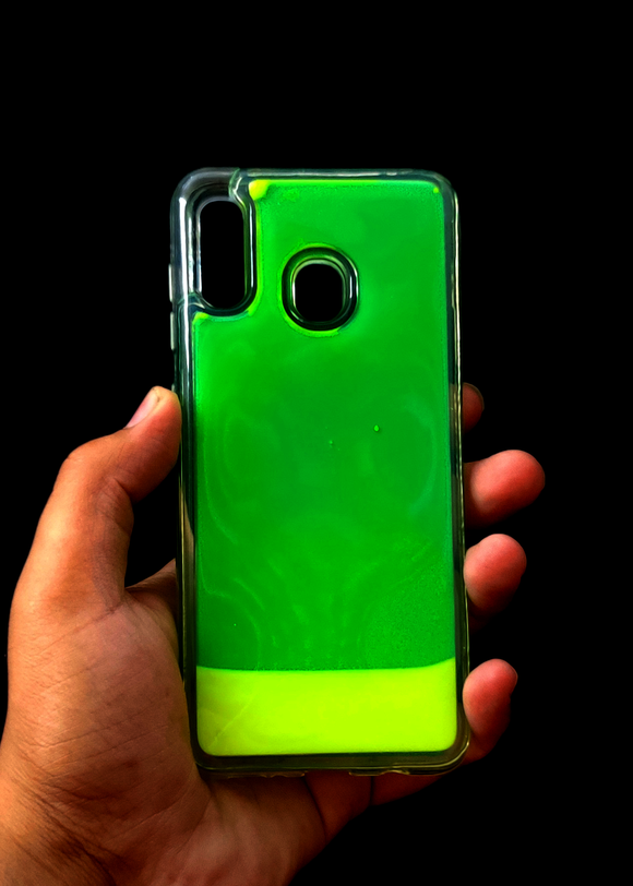 Green Glow In the Dark Silicone Case For Samsung A30