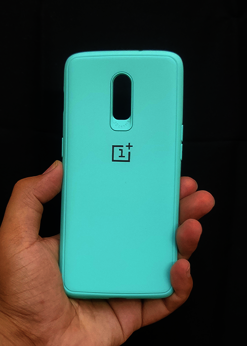 Aqua Blue Ultrasoft Silicone Case For OnePlus 7