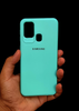 Aqua Blue Ultrasoft Silicon Case For Samsung A21S
