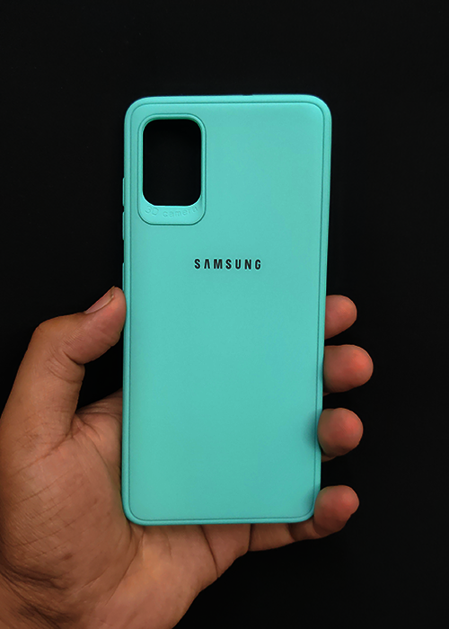 Aqua Blue Ultrasoft Silicon Case For Samsung A31