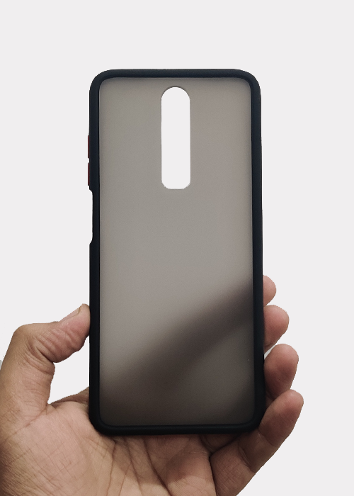 Black Smoke Silicone Case For Poco X2