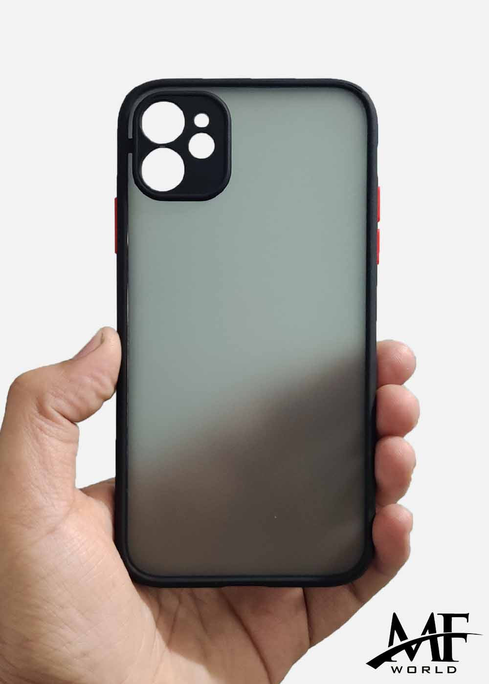 Black Smoke Camera Protection Case For Apple Iphone 11
