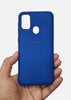Dark Blue Ultrasoft Silicon Case For Samsung M31