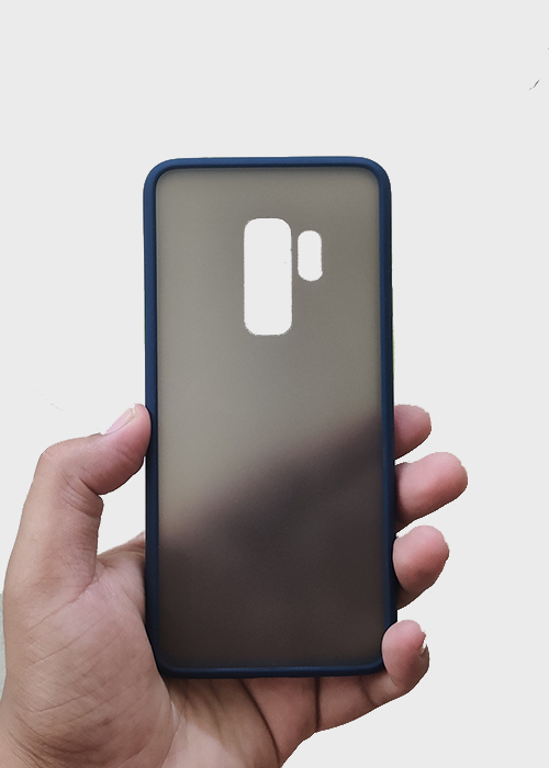 Blue Smoke Silicone Protection Case For Samsung S9 Plus