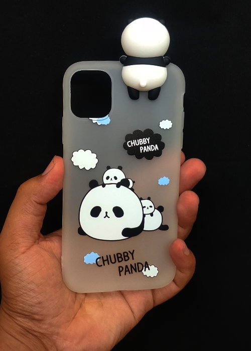 Chubby Panda 3D Silicone Case For Iphone 11