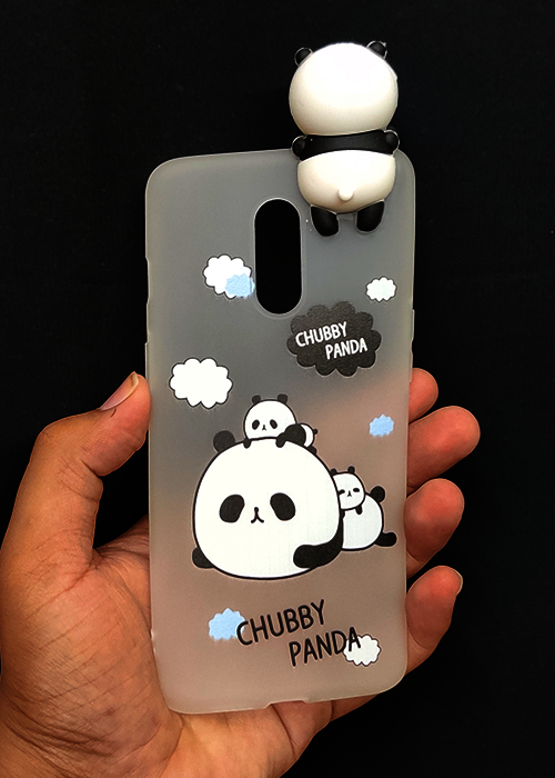 Chubby Panda 3D Silicone Case For OnePlus 7