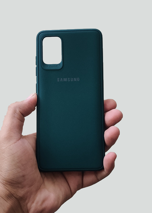 Dark Green Ultrasoft Silicon Case For Samsung A51