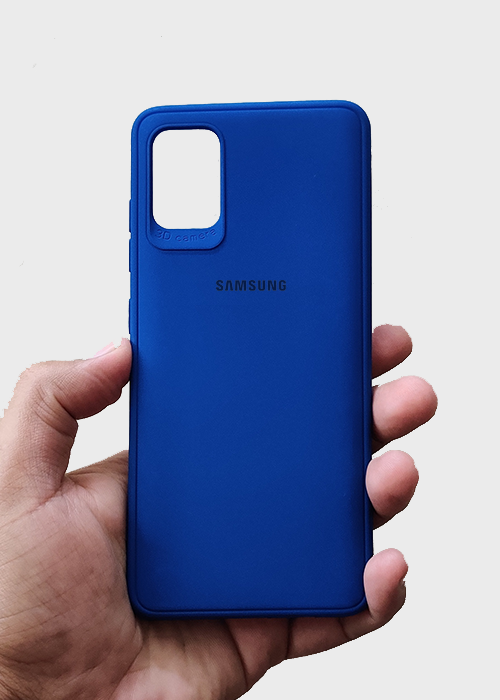 Dark Blue Ultrasoft Silicon Case For Samsung A31