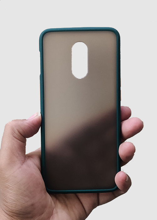 Dark Green Smoke Silicone Protection Case For OnePlus 7