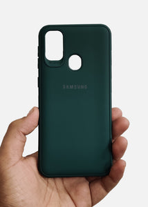 Dark Green Ultrasoft Silicon Case For Samsung M31