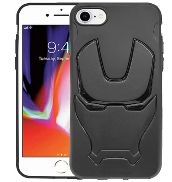 Ironman Engraved logo silicon Case for Apple Iphone 8