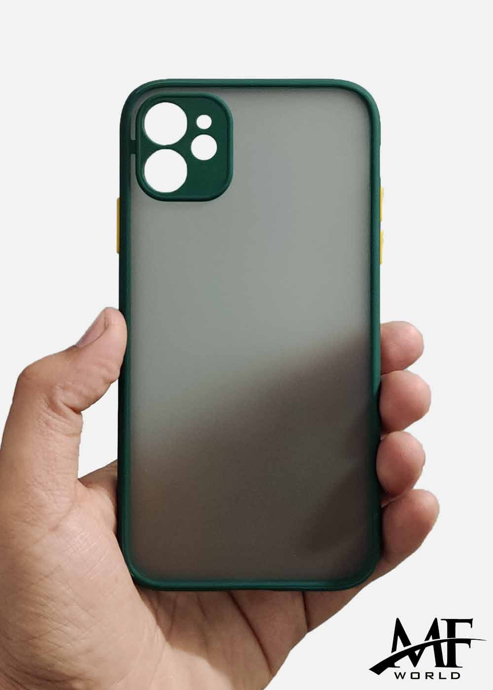 Dark Green Smoke Camera Protection Case For Apple Iphone 11