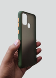 Green Smoke Silicone Protection Case For Samsung A21S