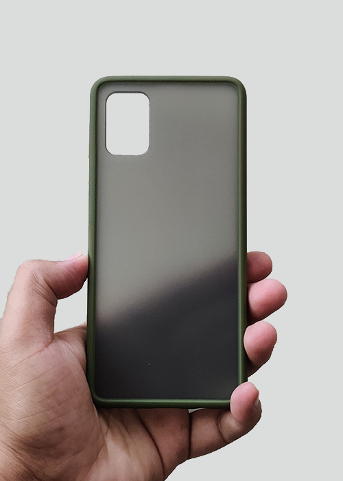 Green Smoke Silicone Protection Case For Samsung A31