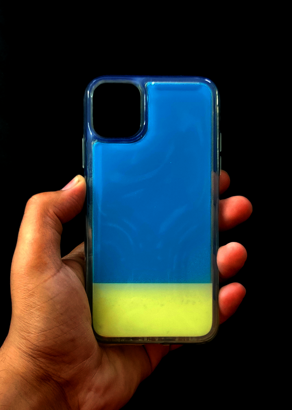 Blue Glow In the Dark Silcione Case For Iphone 11 Pro