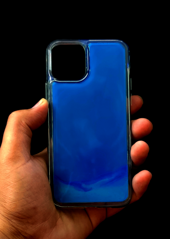 Dark Blue Glow In the Dark Silcione Case For Iphone 11
