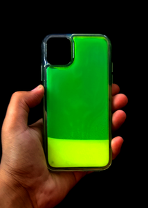 Green Glow In the Dark Silcione Case For Iphone 11