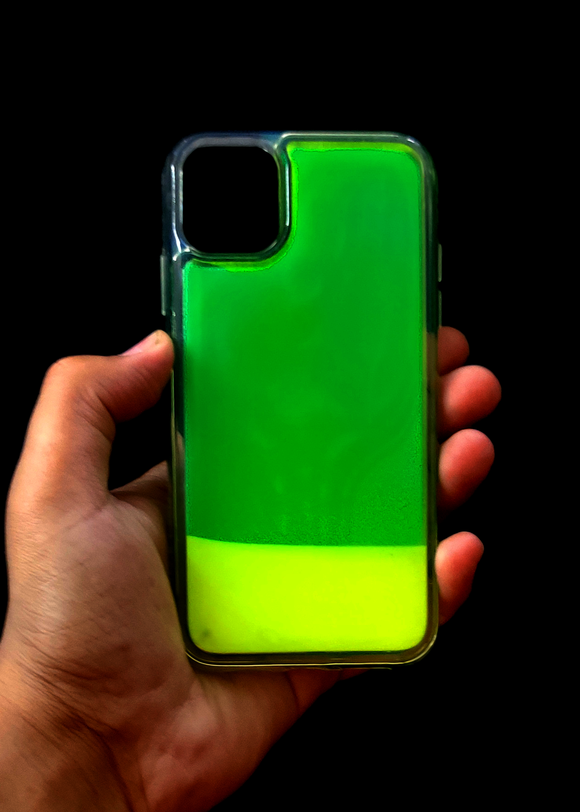 Green Glow In the Dark Silcione Case For Iphone 11 Pro
