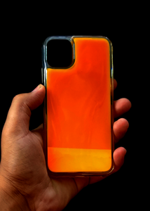 Orange Glow In the Dark Silicone Case For Iphone 11 Pro