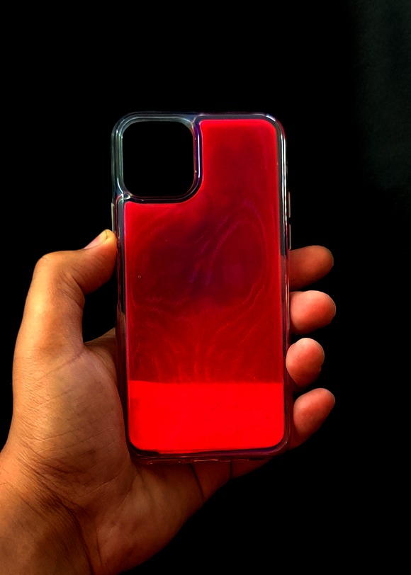 Pink Glow In the Dark Silcione Case For Iphone 11 Pro