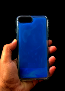 Blue Glow In the Dark Silicone Case For Iphone 8 Plus