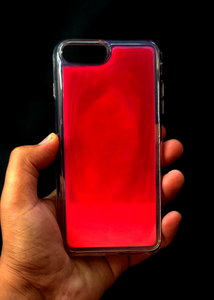 Pink Glow In the Dark Silicone Case For Iphone 7 Plus