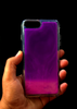 Purple Glow In the Dark Silicone Case For Iphone 7 Plus
