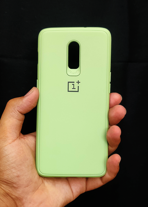 Light Green Ultrasoft Silicone Case For OnePlus 7