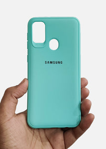 Aqua Blue Ultrasoft Silicone Case For Samsung M21