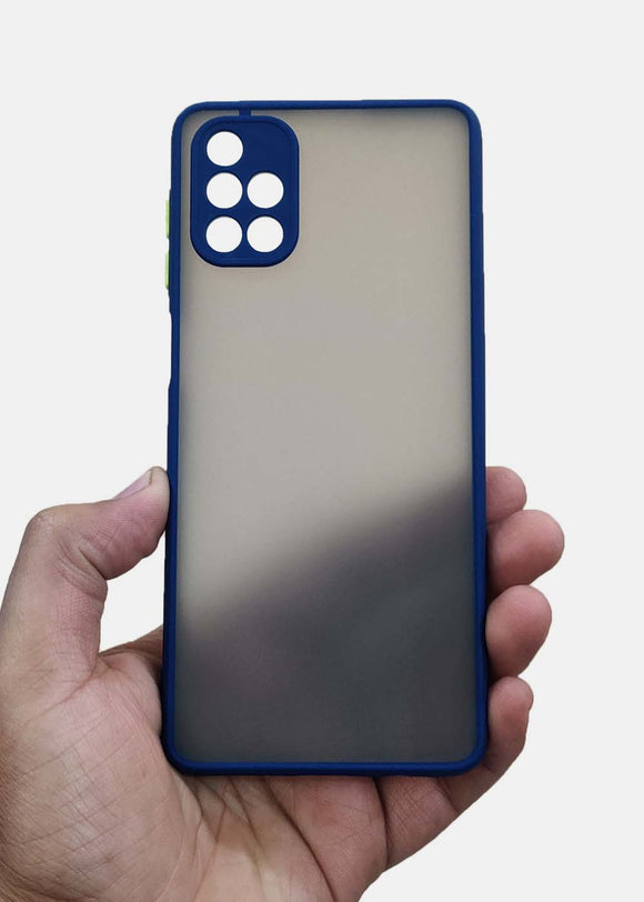 Blue Camera Protection Smoke Case For Samsung M31s