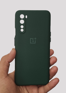 Dark Green 3D Silicone Camera Protection Case For OnePlus Nord