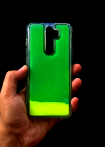 Green Glow In the Dark Silicone Case For Redmi Note 8 Pro