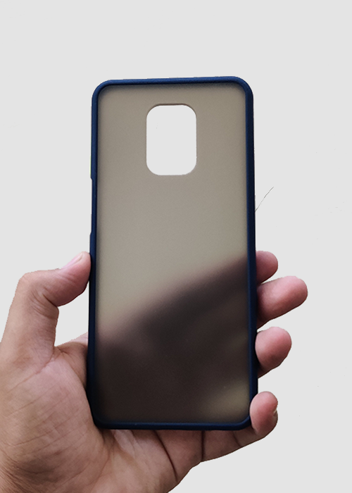 Blue Smoke Silicone Case For Redmi Note 9 Pro