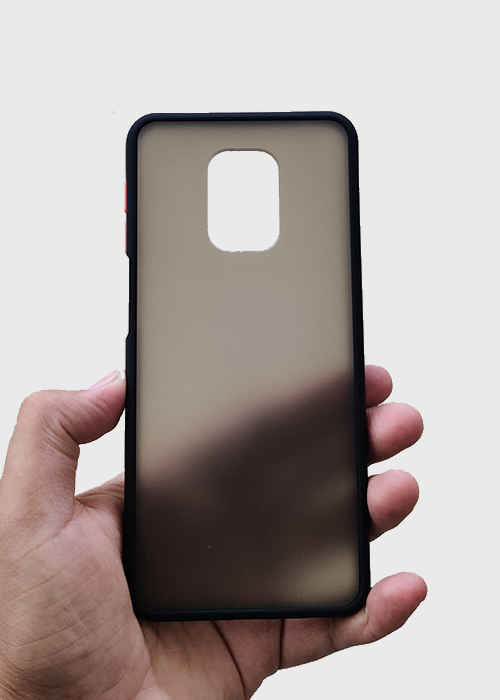 Black Smoke Silicone Case For Redmi Note 9 Pro
