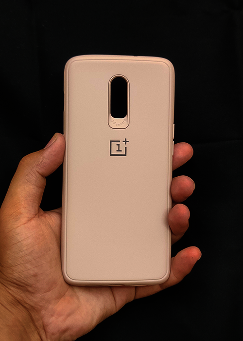 Peach Ultrasoft Silicone Case For OnePlus 7